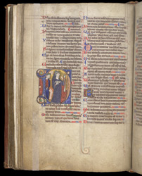 Historiated Initial With The Fool, In The Coldingham Breviary